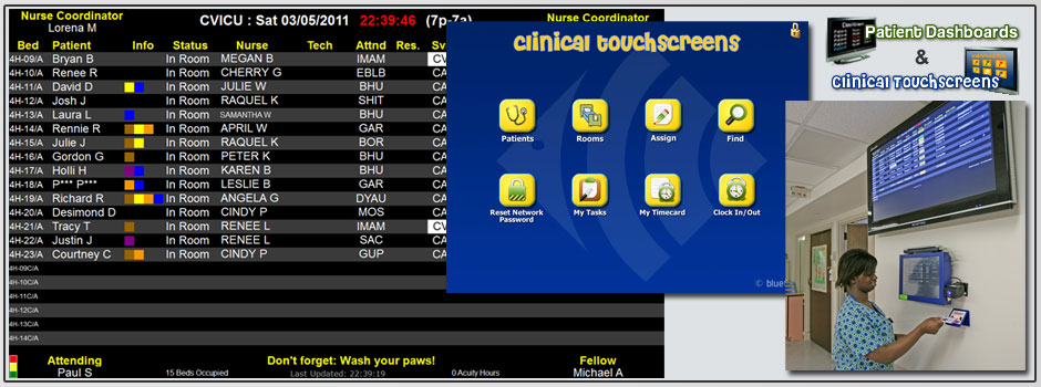 Patient Dashboards and Clinical Touchscreens