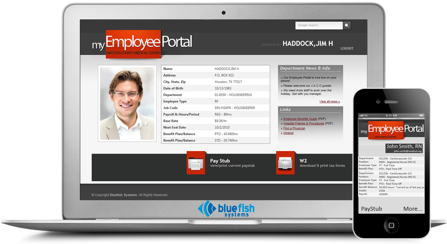 Employee Portal :: Products :: Bluefish Systems