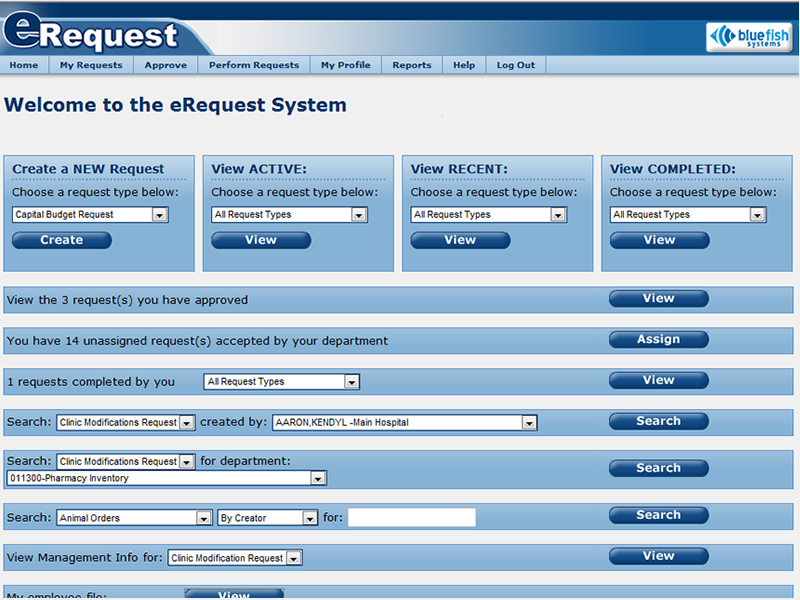 Erequest Products Bluefish Systems