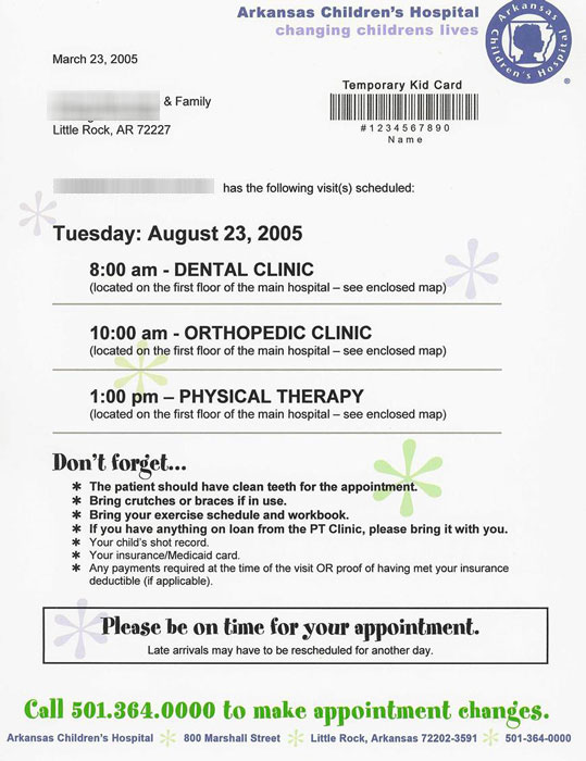 Appointment Reminder Letters  Products  Bluefish Systems
